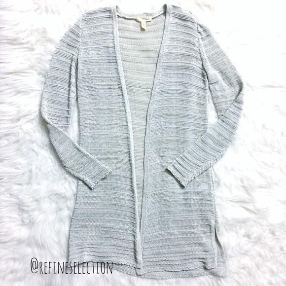 09e79a4713baab Eileen Fisher Sweaters - Eileen Fisher Open Knit Bone Grey Long Cardigan